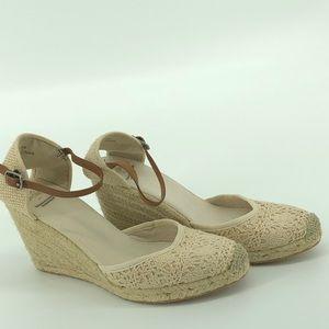 Sam Edelman For AE Crochet Wedge Ankle Strap Sz 7